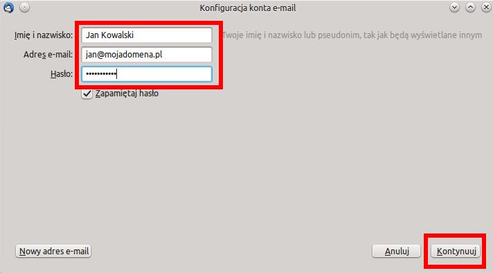 39f848f6ddd22c Centrum pomocy Niebieski.net - Konfiguracja programu Mozilla Thunderbird